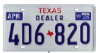Texas dealer license plate