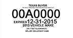 Texas buyer tag