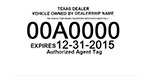 Texas dealer agent tag