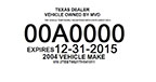 Texas dealer specific tag