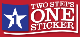 Two Steps. One Sticker. Texas DMV
